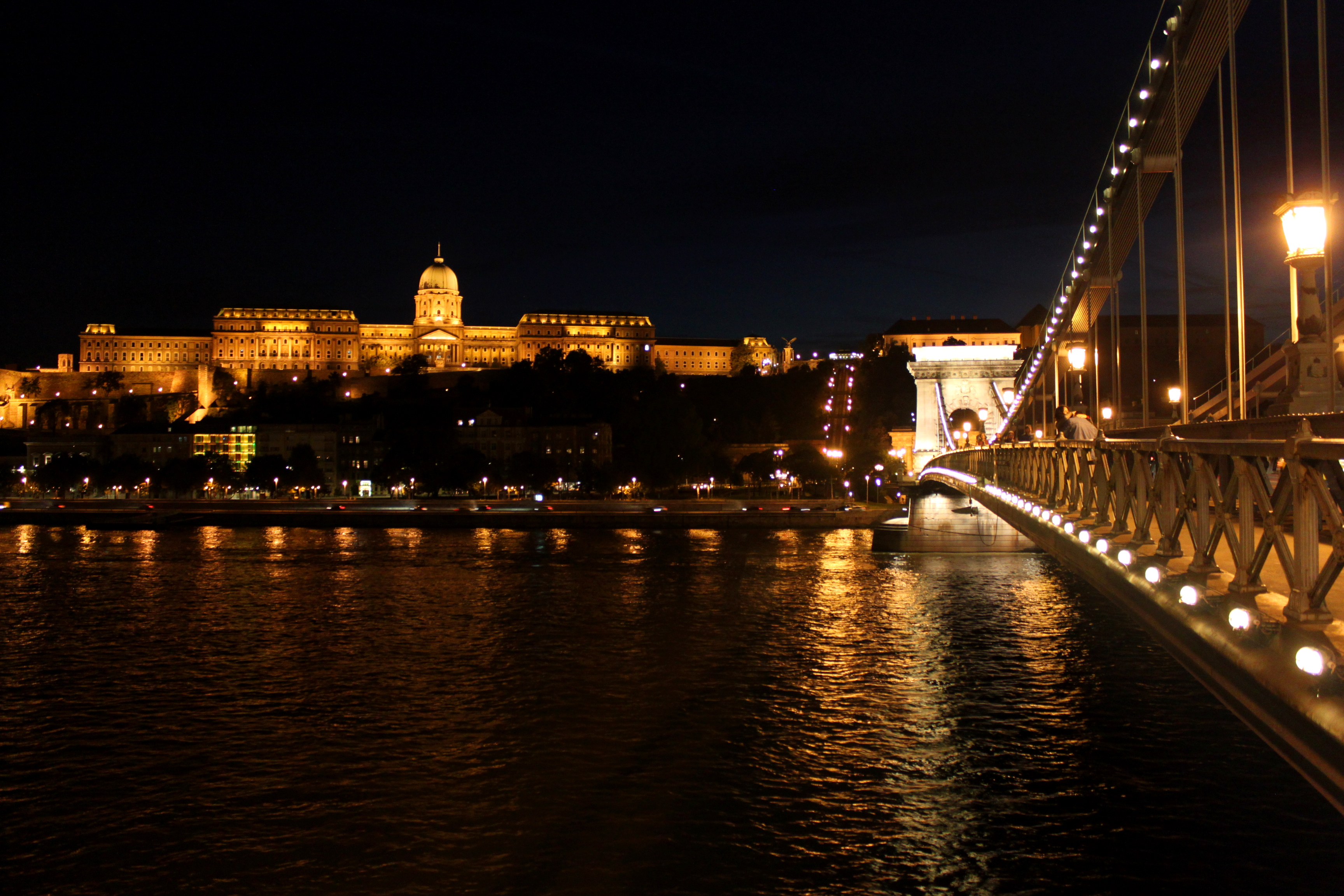 Budapeszt noca Most Lancuchowy