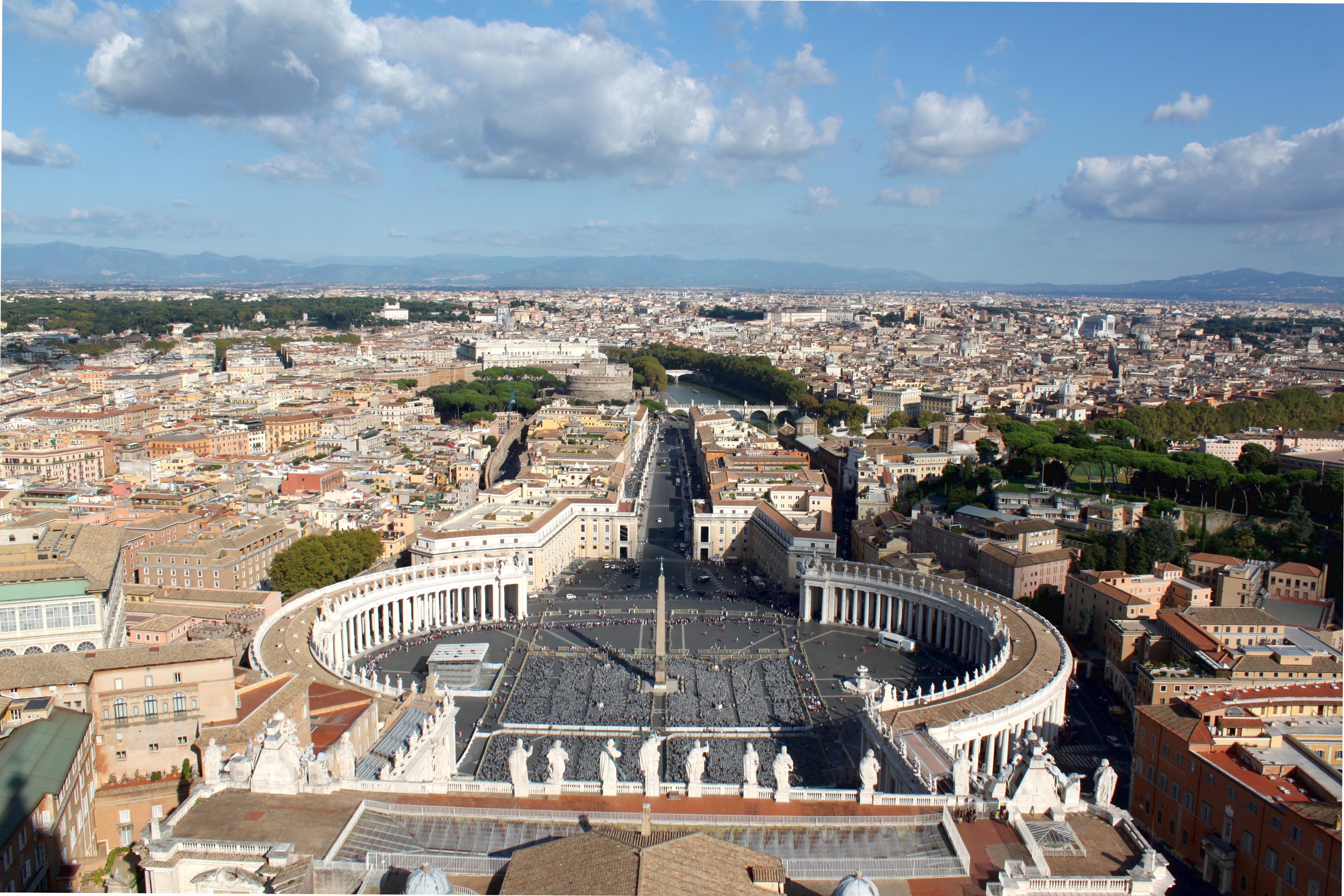 Watykan widok z Bazyliki sw Piotra