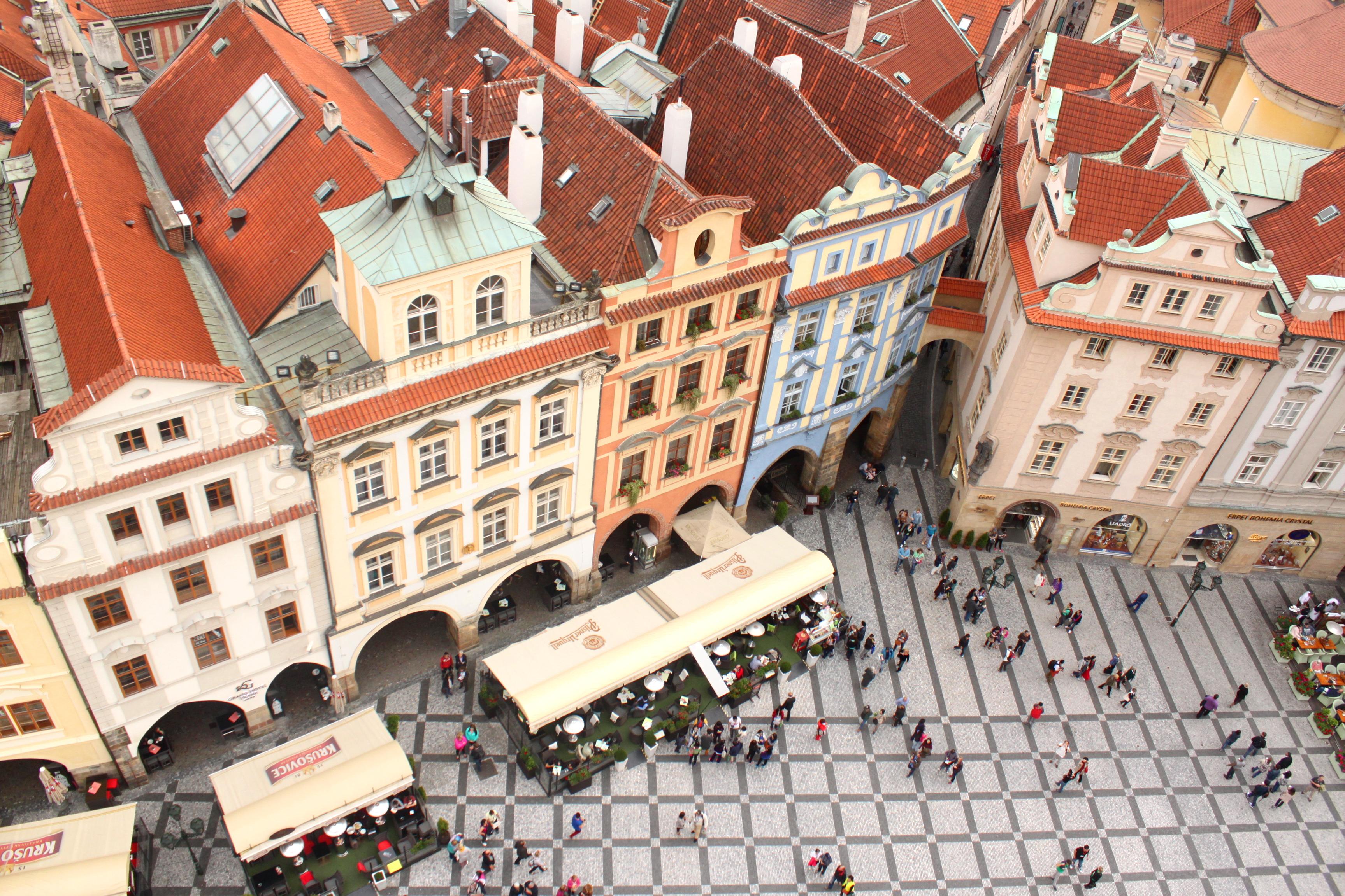 Praga Czechy widok Rynek Staromiejski Ratusz