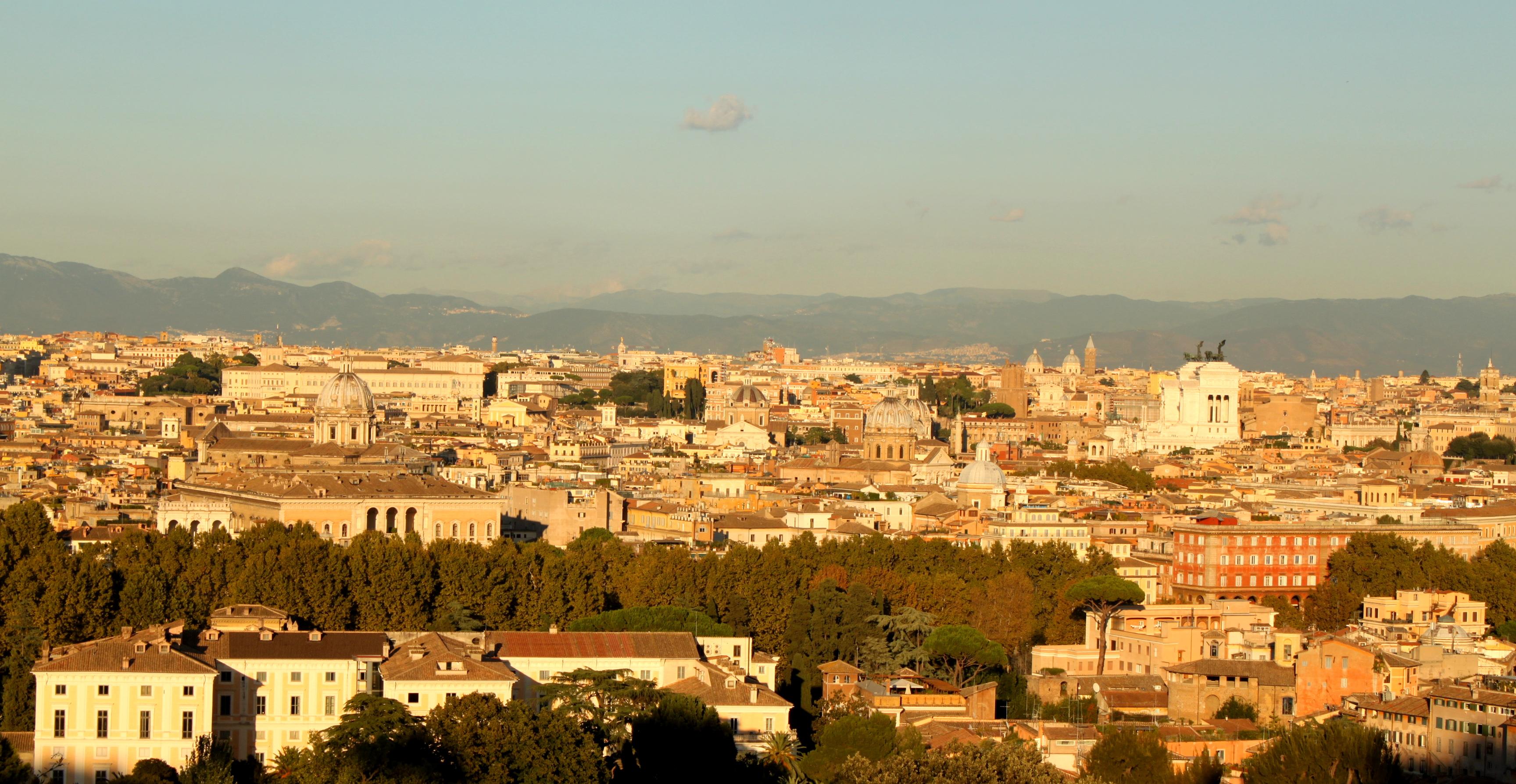 Janikulum widok Rzym